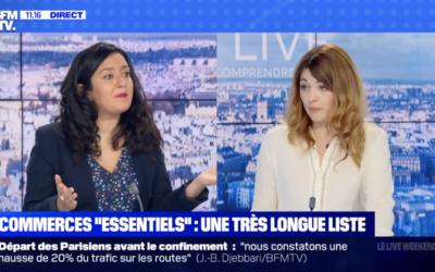 Vidéo | Fermeture de lits, confinement, attestation, Leïla Chaibi sur BFMTV