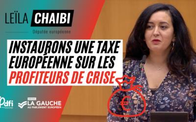 Instaurons une taxe européenne sur les profiteurs de crise !