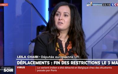 Vidéo | Leïla Chaibi invitée de LCI pour réagir aux annonces de Castex