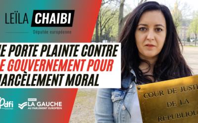 Vidéo | Je porte plainte contre le gouvernement pour harcèlement moral